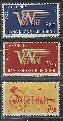 1952 South Vietnam stamps, Air full set MH, YT PA 1-3