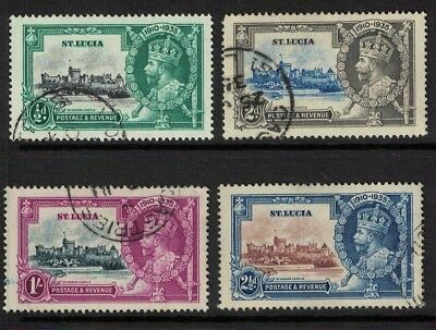 St Lucia stamps George v jubilee issues - Fine used cv £25 - nice set fresh 1935