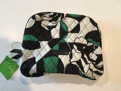 NWT Vera Bradley Large Zip Cosmetic Bag Imperial Rose Makeup Case Travel NEW
