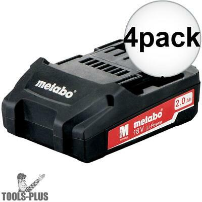 Metabo 625596000 18v 2.0ah battery pack 4x New