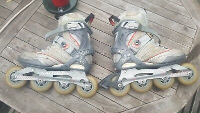 Salomon Roller Blades Skates In Line Skating Uk 6.5 Us 8