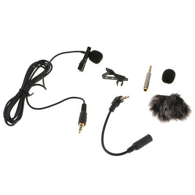 3.5mm External Clip-on Lapel Lavalier Microphone for CellPhone Recording