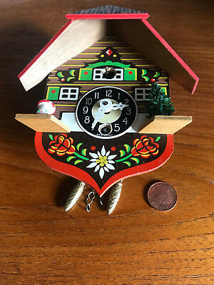 vintage small West German cuckoo clock spares repairs