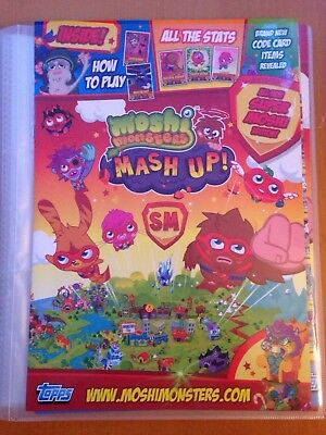 Topps Moshi Monsters Mash Up! SUPER MOSHI Edition 70 Different Cards Free Binder