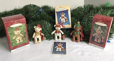 Hallmark Keepsake Ornaments Lot of 3 GIFT BEARERS  1st 1999, 2nd 2000 & 4th 2002