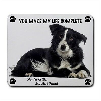 New Design Cute Adorable BORDER COLLIE Dog Puppy Rubber Computer MOUSE PAD Mat