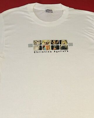 New CHRISTINA AGUILERA World Tour 2000 T - SHIRT - Large