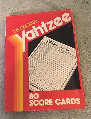 Yahtzee 80 Score Cards Pad Sheets Replacement Dice Game