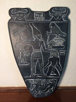 Victory Tablet Of Kind Narmer Sculptural Wall Relief Museum Reproduction