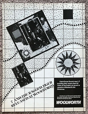 DURAN DURAN - 1983 full page UK magazine ad