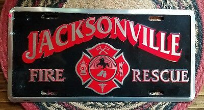 Jacksonville Florida fire department front license plates