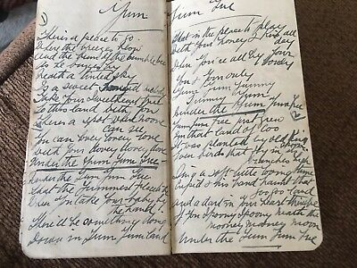 An Edwardian Pocket Notebook With Handwritten Songs From 1910