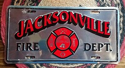 Jacksonville Florida fire department front license plate