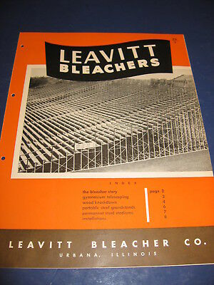 1951 Leavitt Bleacher catalog Stadium Seating Grandstands Perdue U & U of I