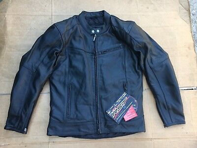 "RST Interstate 2 Classic Leather Motorcycle Jacket Size UK 40"" - 42"" chest   J75"