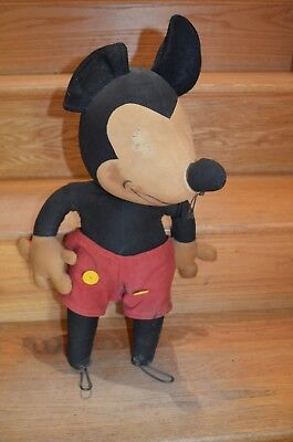 Early Mickey Mouse Doll With 4 Fingers