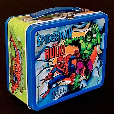 SPIDERMAN, THE HULK & CAPTAIN AMERICA vintage lunch box, Aladdin 1980