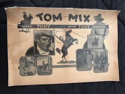 Poster of TOM MIX with Tony and Tony Junior 1930's