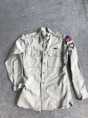 US 82nd Airborne Khaki Shirt With Oval Vietnam (A126