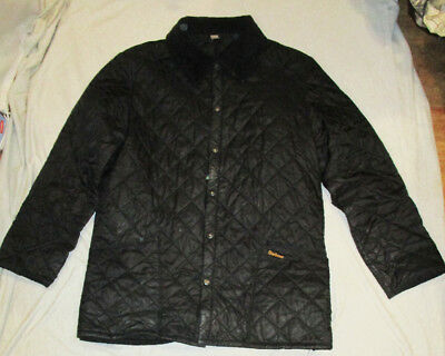 BARBOUR LIDDESDALE JACKET Men's Deep Brown Quilted Made In England Large