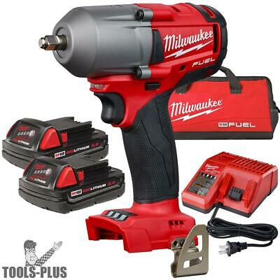 "Milwaukee 2852-22CT M18 FUEL 3/8"" Mid-Torque Impact Wrench Friction Ring Kit New"