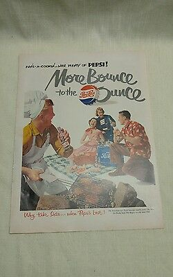 1951 Pepsi Cola Magazine Advertisement More Bounce To The Ounce