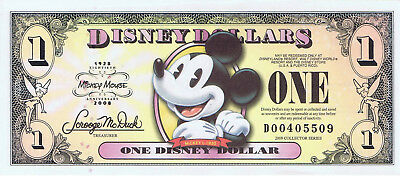 WDW 2008 $1 D Uncirculated Disney Dollar Pie Eyed Mickey Boyer D00405509 Dollars