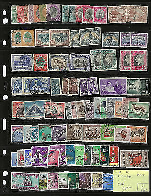 SOUTH AFRICA on 2 Pgs...# 2//917...1913/95...Nice Collection of 120 Diff...M & U
