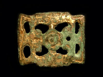 Amazing Romano-Celtic Bronze Gilt Fibulae+++Very Rare Open Work Type+++