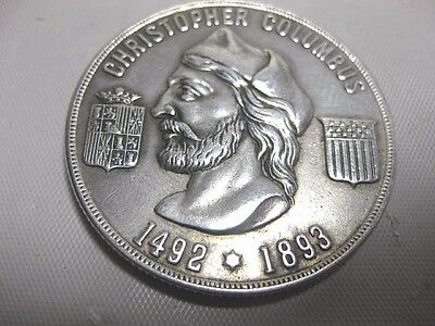 Extremely Rare Columbian Exposition Administration Blg Silver Commemorative Coin