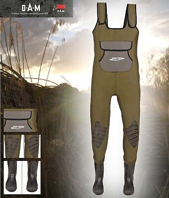 SPRO 4mm Neoprene Chest Wader PVC Boots Gr 42 Wathose by TACKLE-DEALS !!