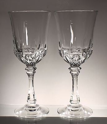 Wine Goblets Glasses, 24% full lead crystal made in USA Set of 2
