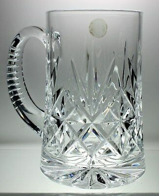 French Cristal d'Arques Glass MUG Chantilly-Taille-Beaugency Pattern 5 ½ Tall