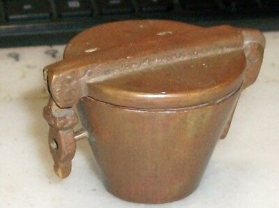 Large Antique Brass Apothecary Nesting Cup Weights Set of 5 + Brass Holder