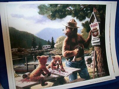 Three prints Smokey The Bear,Rudolph Wendelin