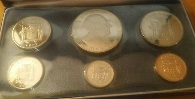 1970 Jamaica Proof Coin Set of 6 Coins