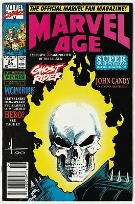 Marvel Age #87 Newsstand 1st Appearance of Danny Ketch as The New Ghost Rider VF