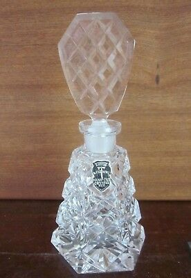 vintage 1960s WESTMORE Germany hand cut CRYSTAL PERFUME BOTTLE Vanity