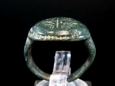 Choice Bronze Byzantine Ring, Large Radiant Cross On Top+++