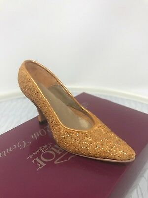 Just The Right Shoe Golden Stiletto 25045 Mint In Box