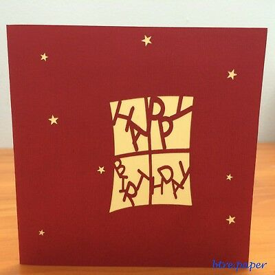 3D Birthday card gifts pop up greeting card