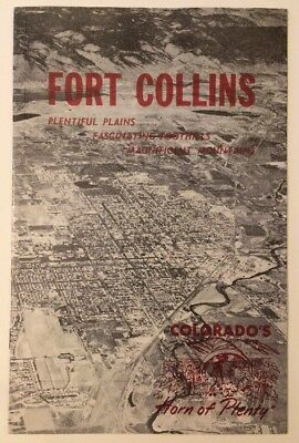Fortunate Fort Collins CO 16 Page Tourist Brochure 1950s Chamber Of Commerce Red