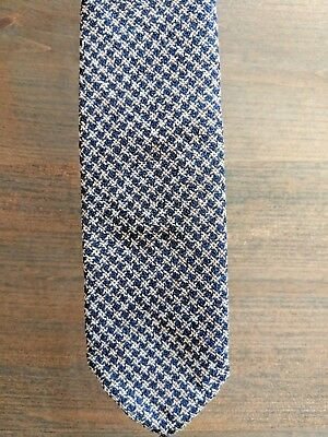 NWT SuitSupply Silk Blue Brown Neck Tie Suit Supply Vitale Barberis Canonico $79