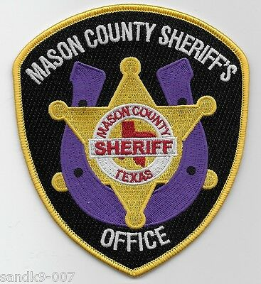NEW Mason County Sheriff State of TEXAS Shoulder Patch TX