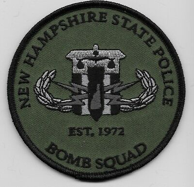 Subdued Bomb Squad EOD New Hampshire State Police NH patch