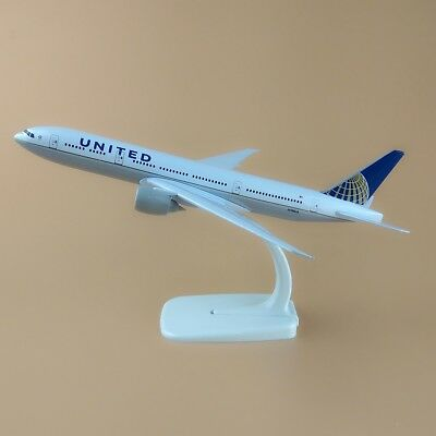 20cm Air United Airlines Boeing 777 B777 Aircraft Metal Airplane Model Plane