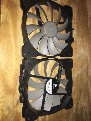 Corsair Silent 140mm Fan Air 540 Obsidian 750D A1425L12S-2 2-pack