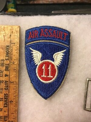 US 11th Airborne Air Assualt Patch Attached Tab (A164