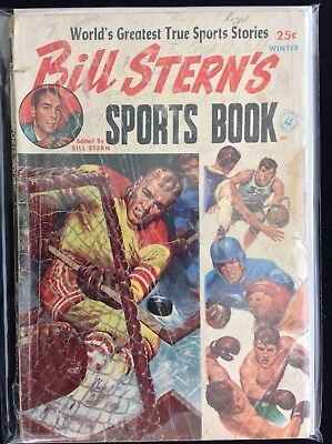 BILL STERN'S SPORTS BOOK - WINTER Lot of 1 Ziff Davis Comic Book!