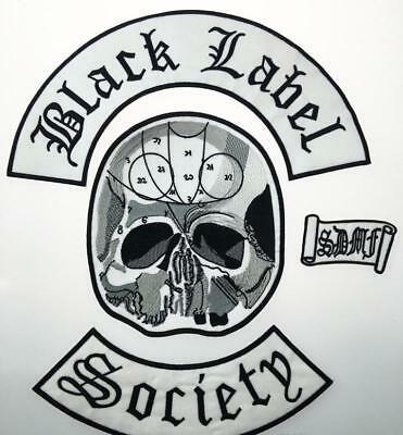 Black Label Society Bls Patch Set Jacket Vest Heavy Metal Patches Sew On Iron On